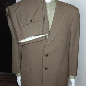 Valentino 2 piece Single Breasted Brown Suit 43R